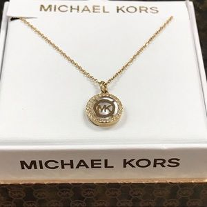 $95 New Michael kors shiny classic gold necklace